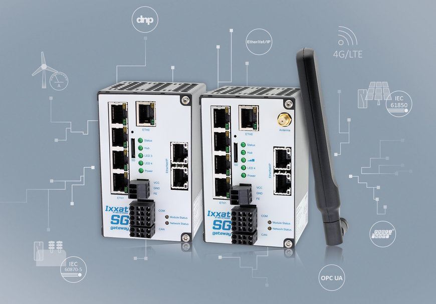 New Ixxat Smart Grid Gateways for IEC 61850 and IEC 60870 with LTE support